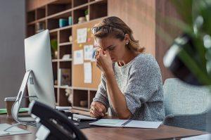 image Worried businesswoman