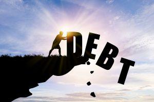 debt, graphic, cliff